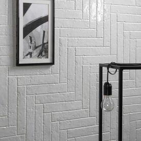 White Brickart Tile